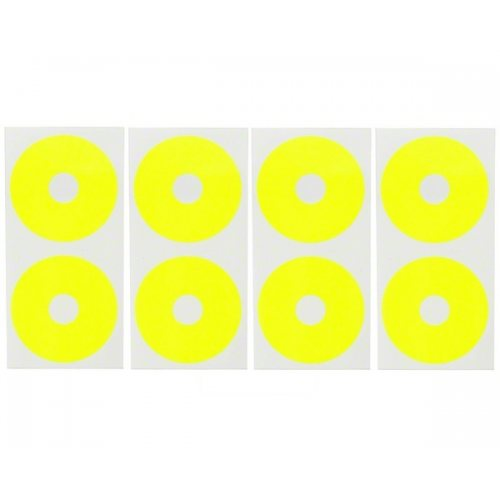 DE Racing Wheel sticker disk for 1/10 buggy / Fluorescent Yellow (8pcs.)