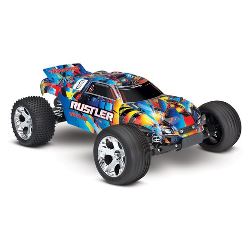 Traxxas Rustler 2WD 1/10 RTR TQ - w/o Battery & Charger TRX37054-4