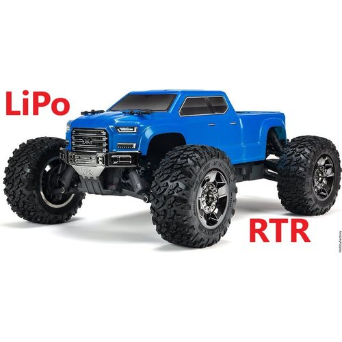 ARRMA RC BIG ROCK CREW CAB 4x4 BLX 1/10 Monster Truck LiPo package